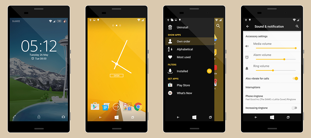 Theme Windows Phone Yellow C1