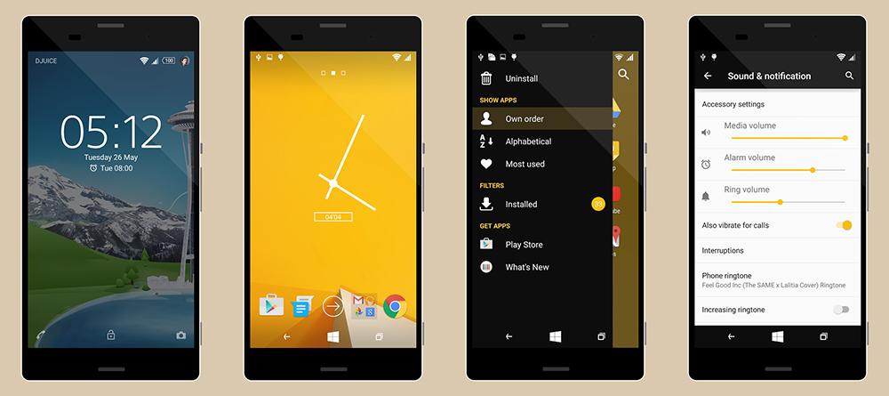 Theme Windows Phone Yellow C1