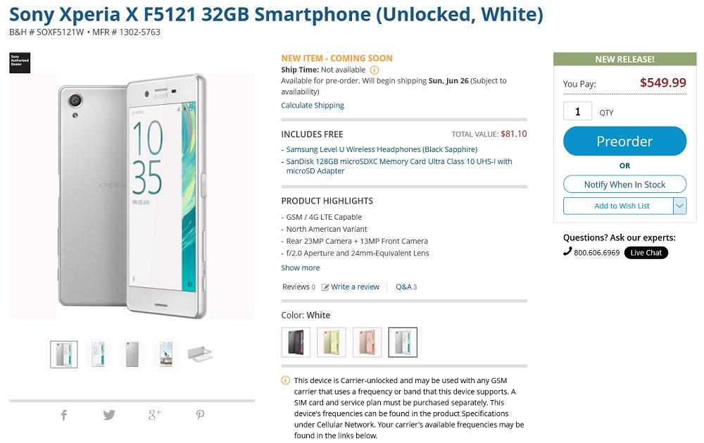 Sony Xperia X F5121 32GB Smartphone