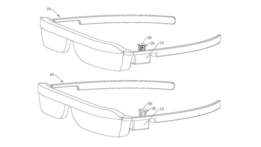 هواوی پتنت عینک هوشمند مجهز به دوربین سلفی چرخشی-جهشی را ثبت کرد